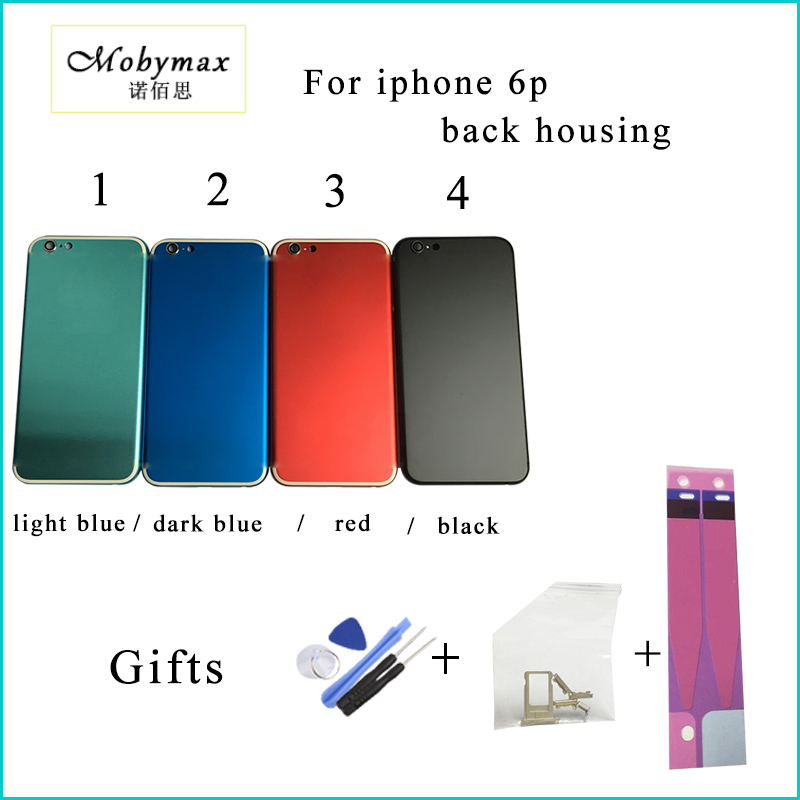 Chassis Back Housing Battery Cover Coque Fundas for iPhone6p 5.5A1522 A1524+LOGO&Buttons&Sim Tray+Sticker+Tool+Custom IMEI