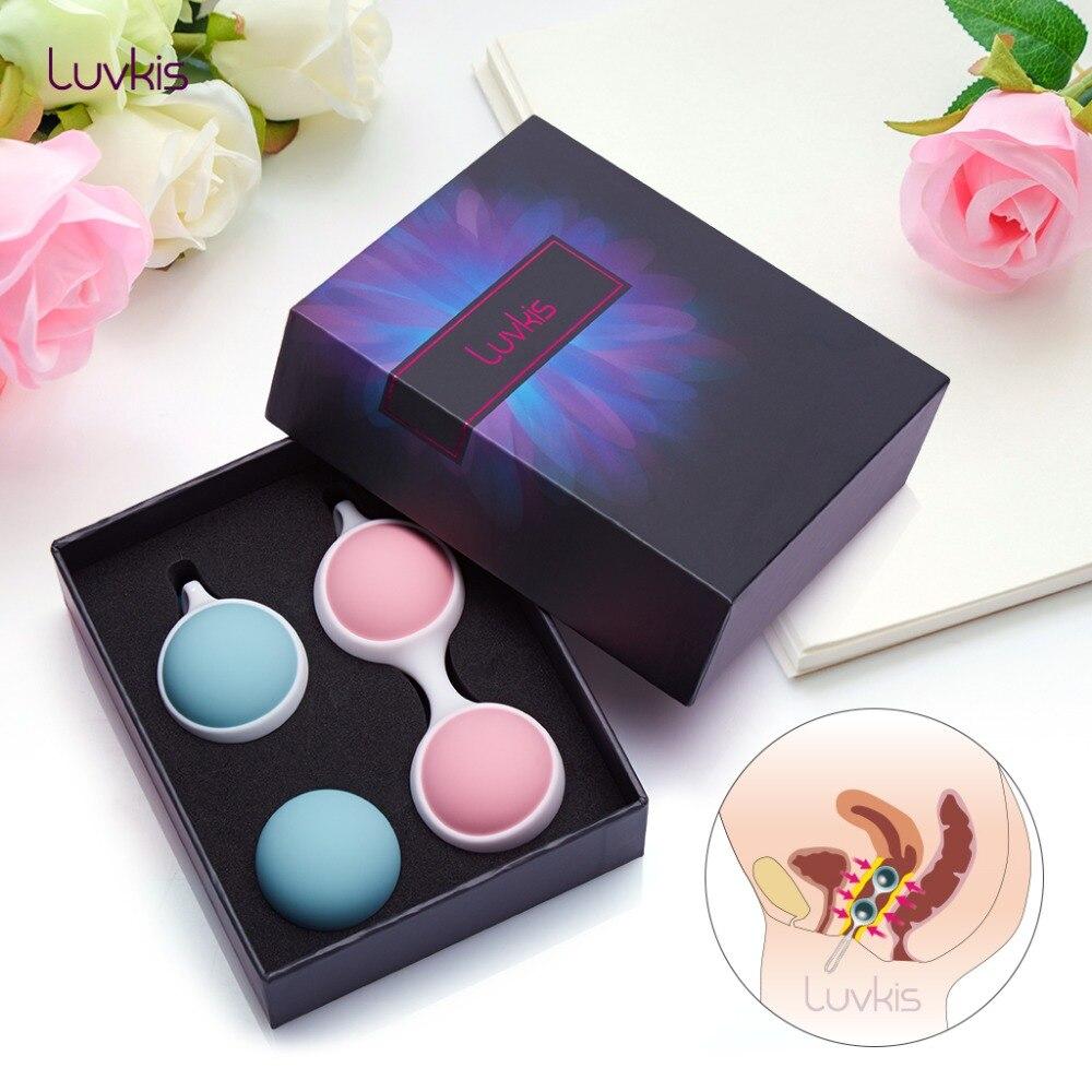 Luvkis Medical Silicone Kegel Balls Vaginal Ball for Anus or Vagina Tighten Exercise Ben Wa Balls Geisha Ball Sex Toys for Women