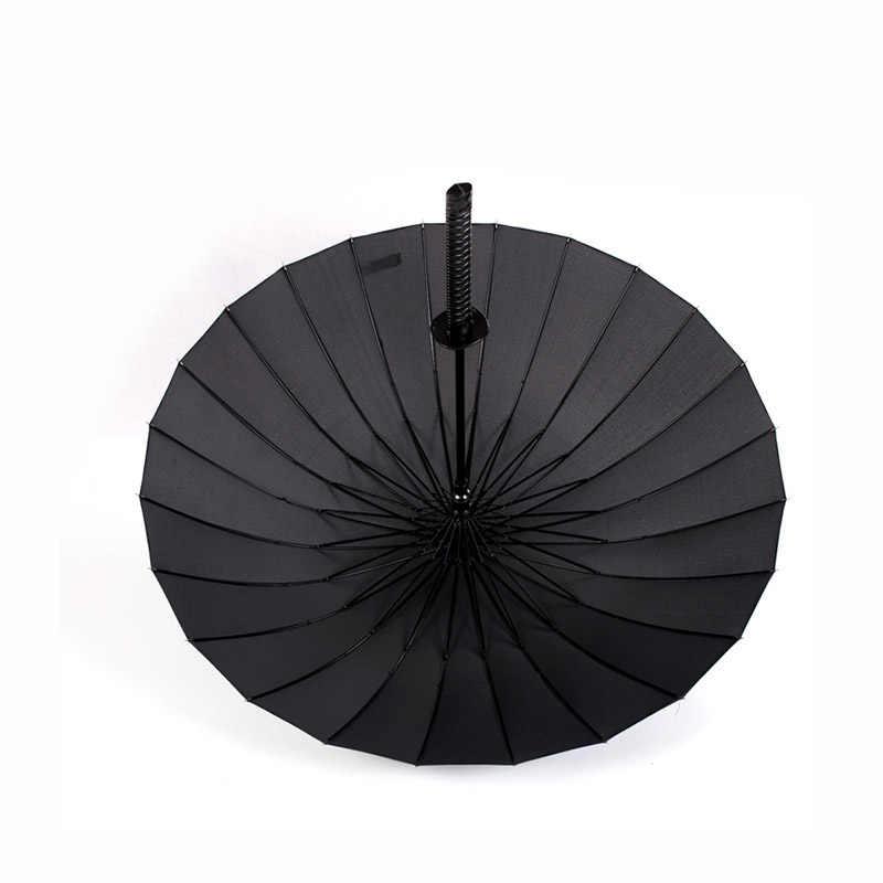 Стильный черный японский самурай ниндзя меч катана Зонтик Солнечный и дождевой Длинные зонтики полуавтоматические 8, 16 или 24 ребра