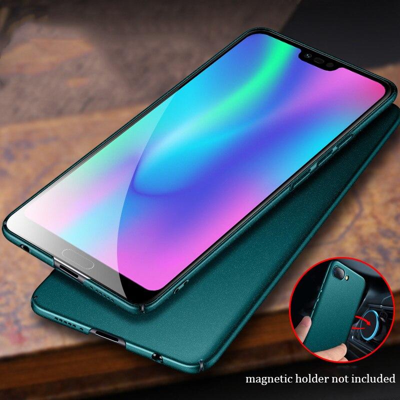 Para Huawei Honor Caso Matte AIXUAN Honra V20 10 Vista 20 10 Metal Plástico Magnético Carro Titular Capa Para Huawei honra V20 Jogar v10