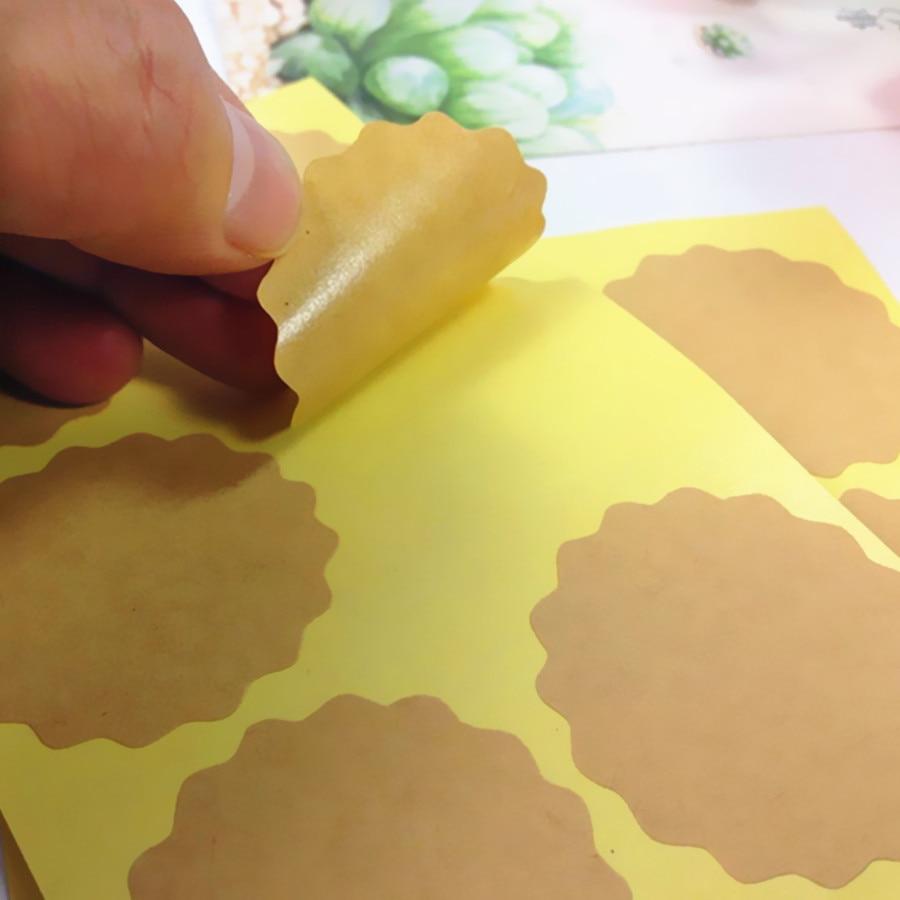 1000 pçs lote em branco papel kraft