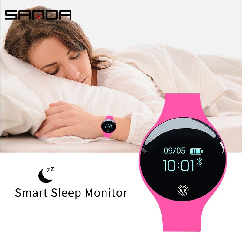 SANDA SD01 Fashion Smart Digital Wristwatch Men/Women/Children Touch Screen Distance Sleep Monitor Smartwatch For IOS Android 4