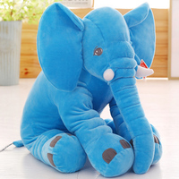 stuffed toy large 60x50cm blue elephant plush toy soft throw pillow Christmas gift b0179