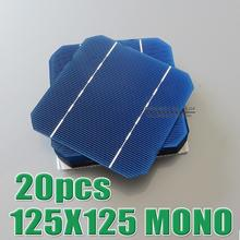 Hot Sale 20pcs 2.7W – 2.75W 17% – 17.2% efficiency 125 Mono monocrystalline Solar Cell 5×5 for Diy Solar Panels WY