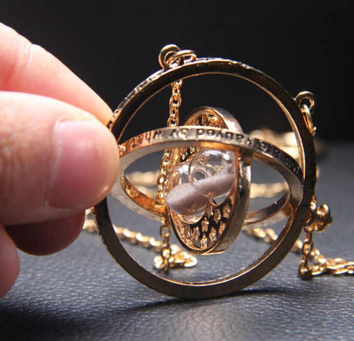 HP פוטר סרט זמן טרנר חול שרשרת שישה גדוד קסם שרביטים Keychain תליון מתכת מפתח טבעת שרשרת