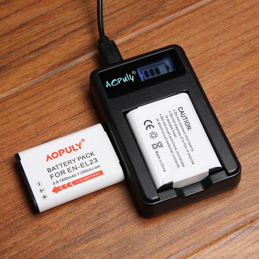 Cámara Digital de Baterías de Repuesto EN-EL23 EN EL23 ENEL23 Batería + Cargador USB Para Nikon Coolpix S810c P900 P900s P600 P610