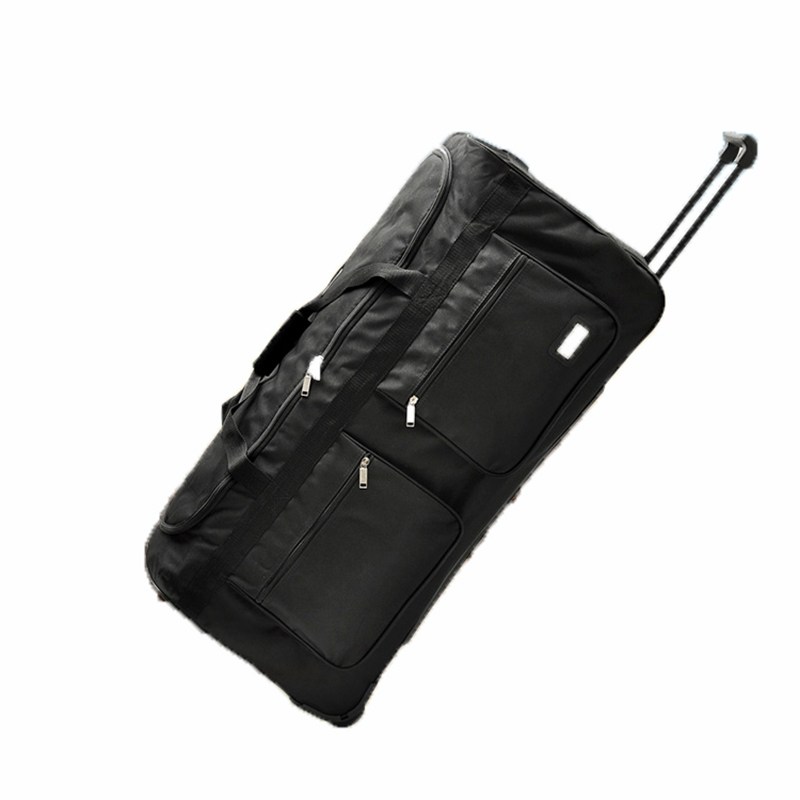 Ultralight Rolling Luggage 32/40 inch Large capacity Travel Bag Suitcase Trolley soft Oxford cloth student trunk Checked bag universal uheels trolley travel suitcase double shoulder backpack bag with rolling multilayer school bag commercial luggage