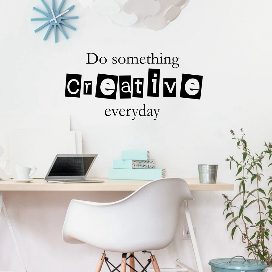 Free shipping inspirational quote wall decal stickers for children free shipping inspirational quote wall decal stickers for children office do something creative everyday inspirational j2032 in wall stickers from home amipublicfo Gallery