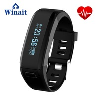 Winait F1 Smart Bracelet With Movement Mileage Record Heart Rate Monitoring Pedometer