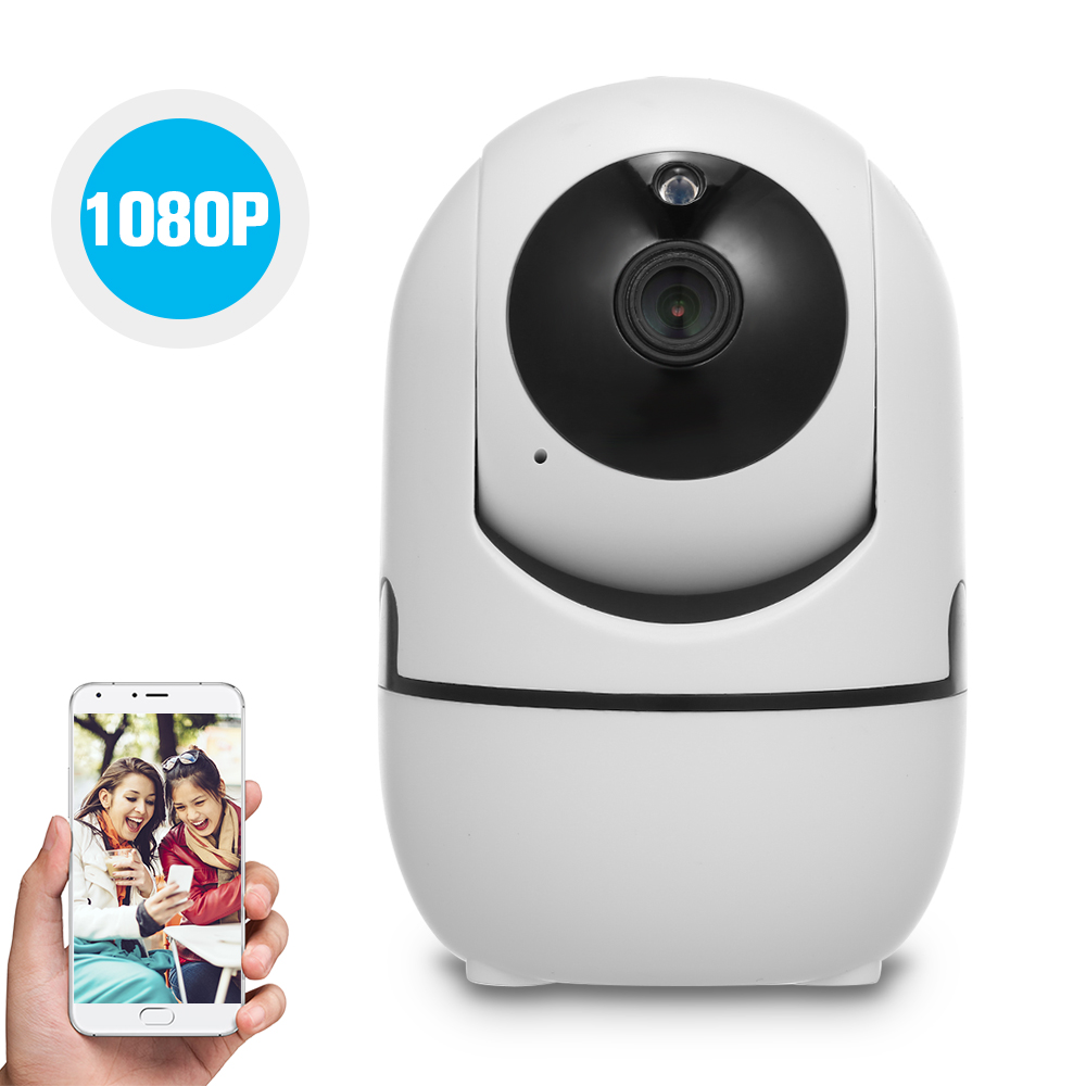 1080P HD WiFi Camera Wireless IP Camera Baby Monitor with Motion Detection Tracking Voice Alarm 2 way Audio Night Vision-in Baby Monitors from Security & Protection