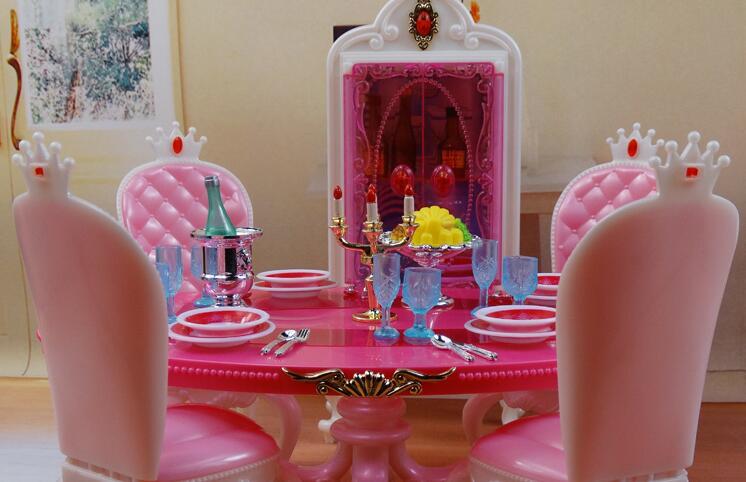 ФОТО NEW Children's toys Genuine for Barbie doll restaurant furniture dinette kitchen Barbie Girl Home