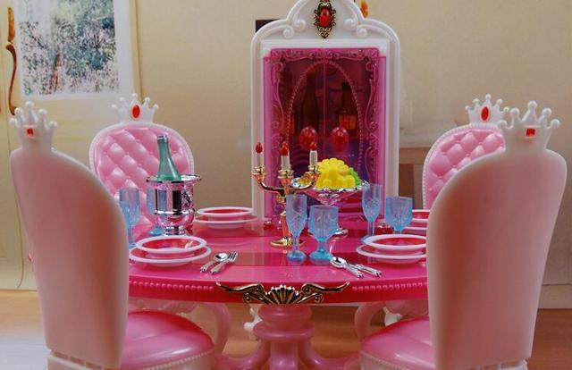 nouveaux enfants de jouets vritable pour barbie poupe restaurant meubles dinette cuisine barbie fille la - Cuisine Barbie