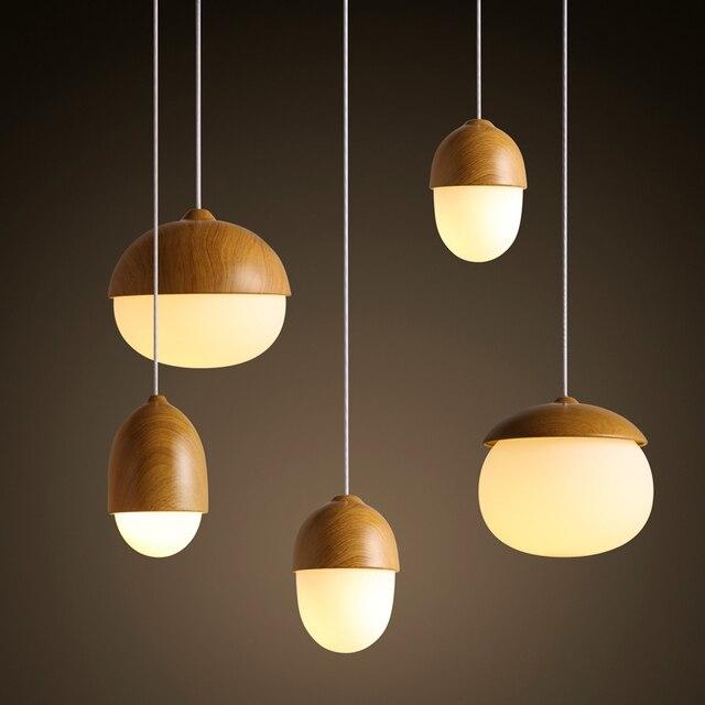 Modern Nodic Wood Acrylic Pendant Lamp Suspension Light Lighting Fixture Diy