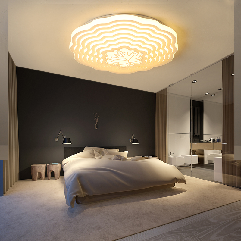 New Modern Ceiling Light Dimmable 48w Remote Light Living