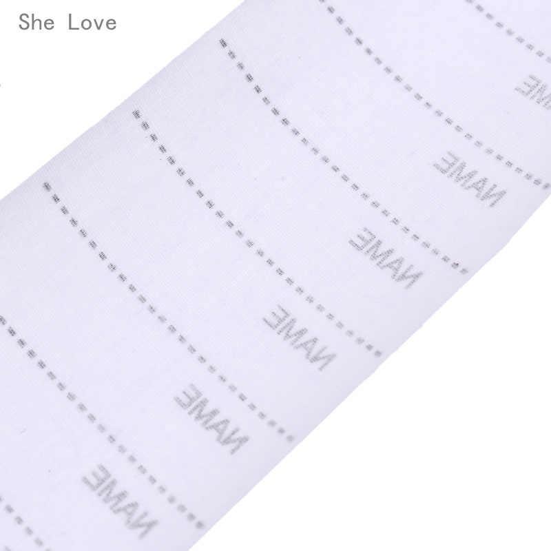 100pcs สีขาวล้างทำความสะอาดได้เหล็กบนชื่อป้ายผ้าหมวดหมู่ Marker ชุดสำหรับเสื้อผ้าเย็บอุปกรณ์เสริม