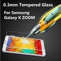 Lujo 0.3mm ultra thin 2.5d vidrio templado protector de pantalla de la película protectora guard para samsung galaxy k zoom c115 kzoom c1158