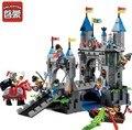 Enlighten 546 unids serie castillo caballero medieval castillo puente levadizo modelo bloques de construcción conjuntos