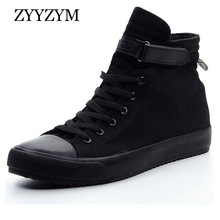 ZYYZYM Mężczyźni Canvas Shoes Fashion Sneakers Wiosna 2018 Pomoc Classic Unisex Style Oddychający Man Casual Lovers Shoes EUR 36-44