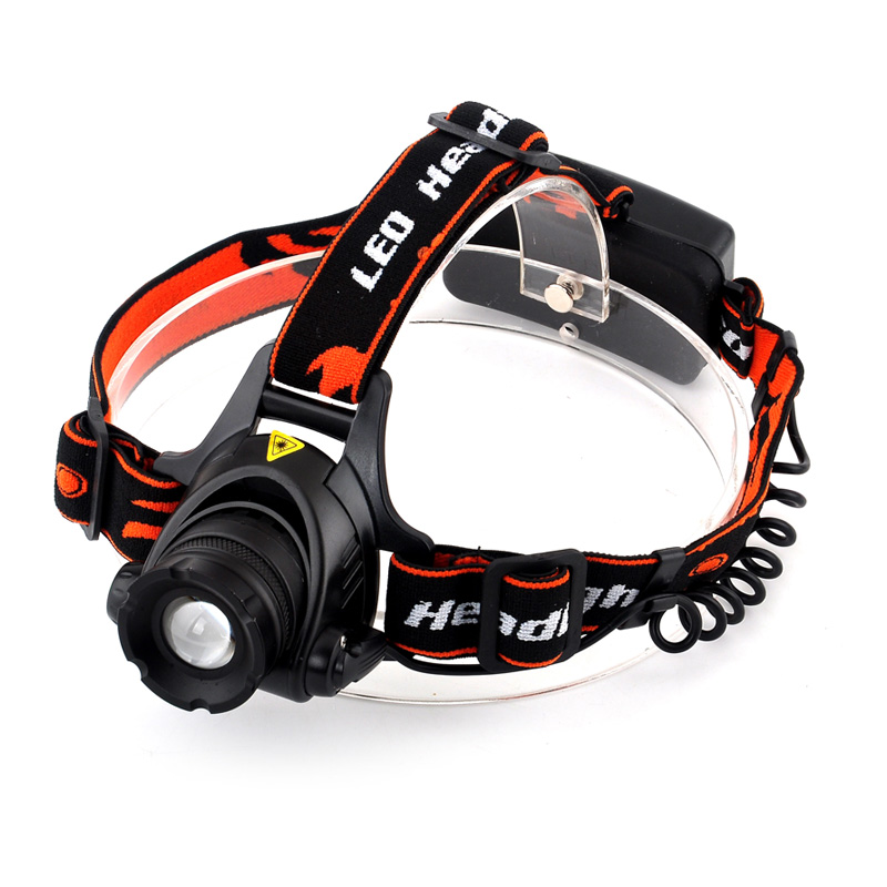 3800LM XML T6 LED Headlight Zoomable Headlamp 3 mode Head Light Lamp +2 PCS 18650 battery+Car EU/US/AU/UK Plug charger