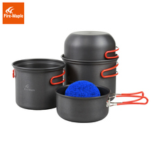 лучшая цена Fire Maple Pots Set Outdoor Camping Foldable Cooking Cookware Aluminum Alloy for 2-3 Persons FMC-208