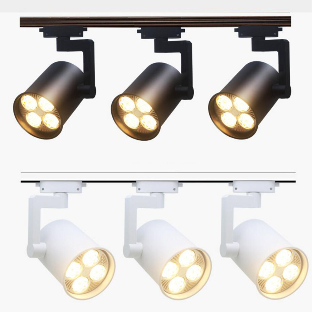 2pcs LED Track Light 35W 40W COB Ceiling Rail lamp spotlight For Kitchen Fixed Clothing Shoes