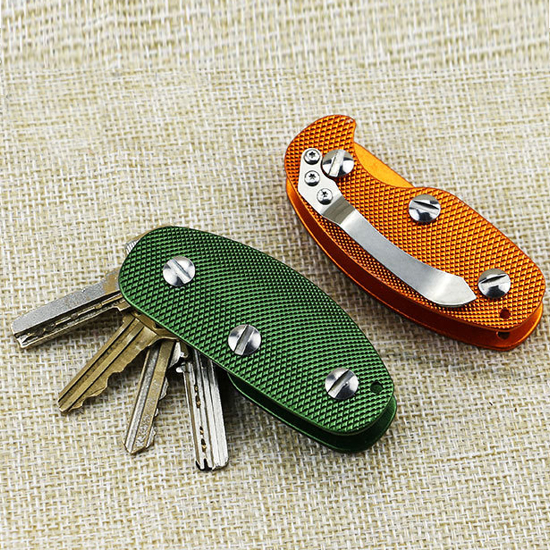 New Aluminum Smart Key Holder Organizer Clip Folder Keychain Pocket Tool aluminum key holder organizer clip folder keyring keychain pocket tool