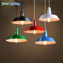 dia. 26cm 5 colors options aluminum colorful pendant lamps For Restaurant/Bar luminaire Retro Edison Loft Pendant Lamp 220V/110V