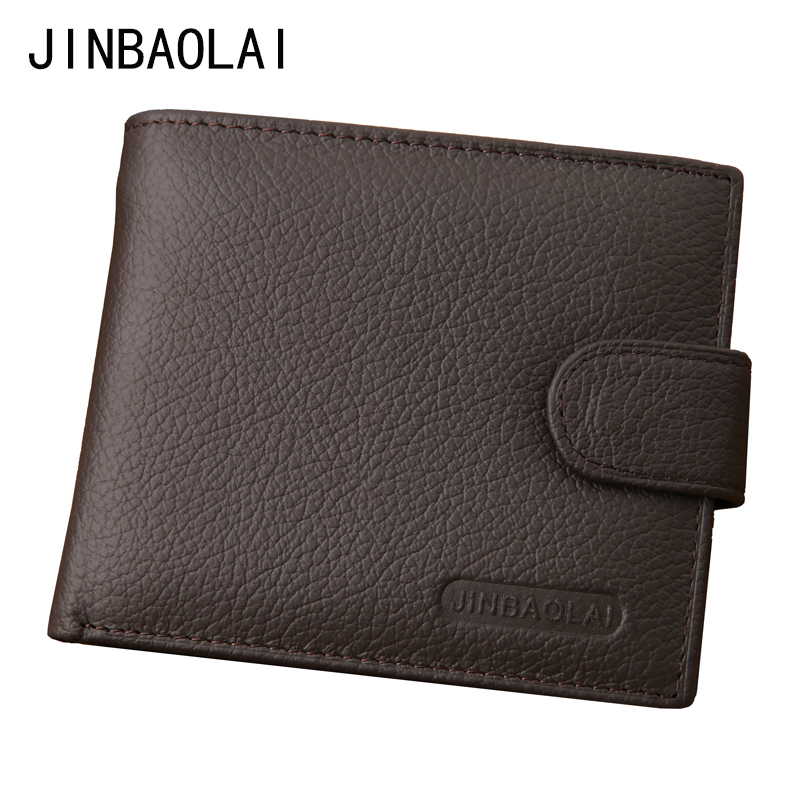 Men Wallets Genuine Leather Bifold Wallet Fashion Design Brand Casual Style..