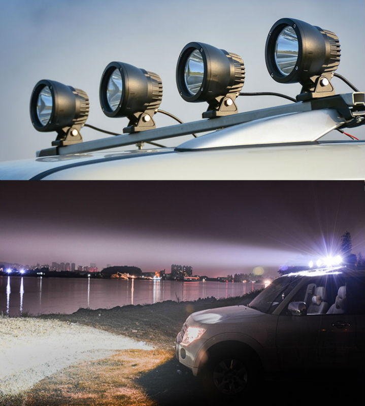 25W 3.6 inch Led Cannon Spot Driving Lights Work Lamp Offroad 4WD Truck Motorcycle Marine Boat Auto Car Styling Spotlights (6)