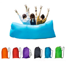 Fast Inflatable Air Sofa Lazy Bag Laybag Lounger Chair Sleep sofa Couch Saco de dormir many colors choices