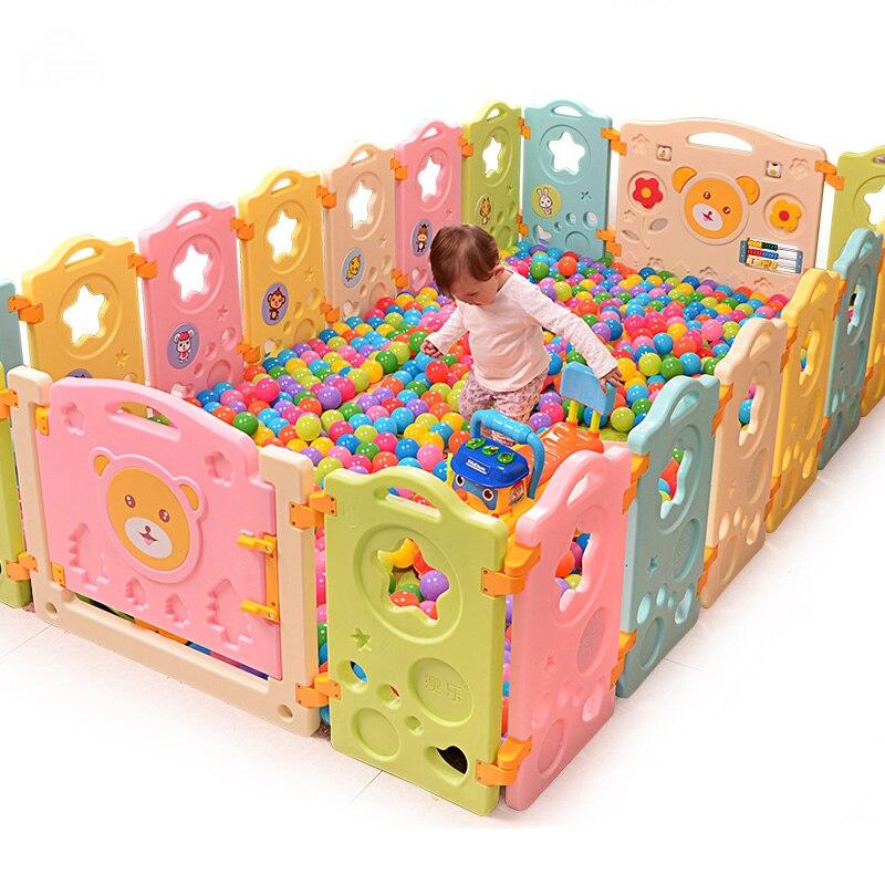 2018 Специальное предложение Cercadinho детские Манеж забор Кухня детские игрушки ребенок младенческой ограждения игра защитный игрушки 18 + 2