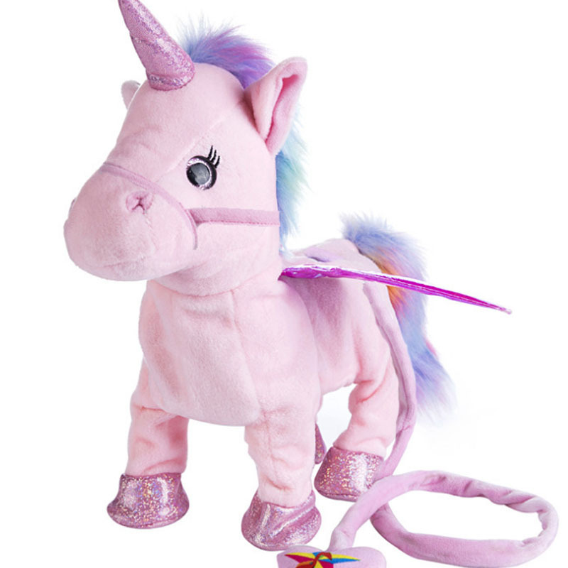 Pink Electric Walking Talking Unicorn Doll Stuffed Fluffy Animals Plush Toy For Boys Girls Baby Toddler Kids Children Toys