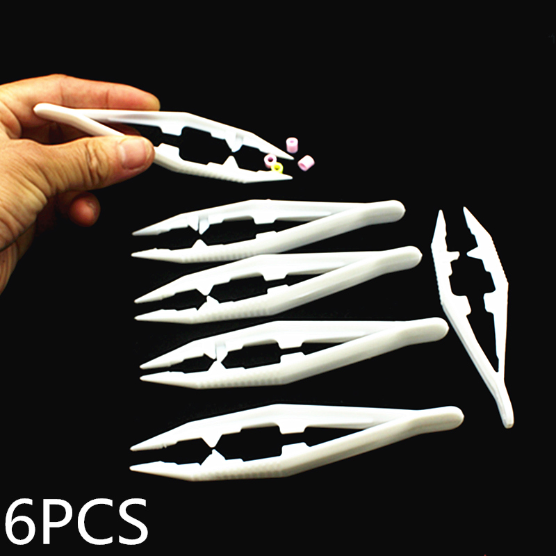 6pcs Tweezers For 5mm 2.6mm Hama Perler Beads Tool Craft Plastic Clips Kids Children Fuse Bead DIY Tool Tools