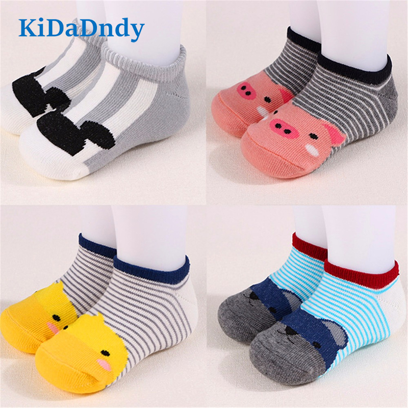KiDaDndy Cotton Cute Design Animal Image Baby Socks With Silicone Soles Silicone Non-Slip Baby Floor Socks LL104R