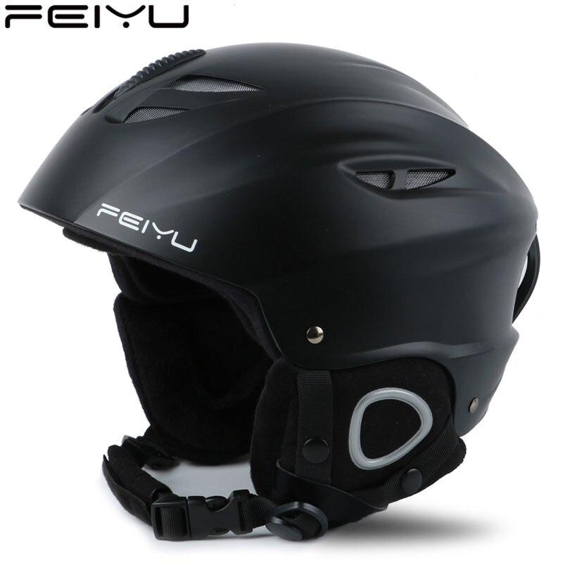 Extérieure pour adultes Sécurité casque de ski Moulée Intégralement homme femme Neige casque de ski Snowboard Planche À Roulettes Casque Pour Moto