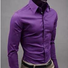 Европейская и американская мода, яркие цвета, мужская рубашка с длинными рукавами, весна и осень, новая мужская однотонная Повседневная рубашка