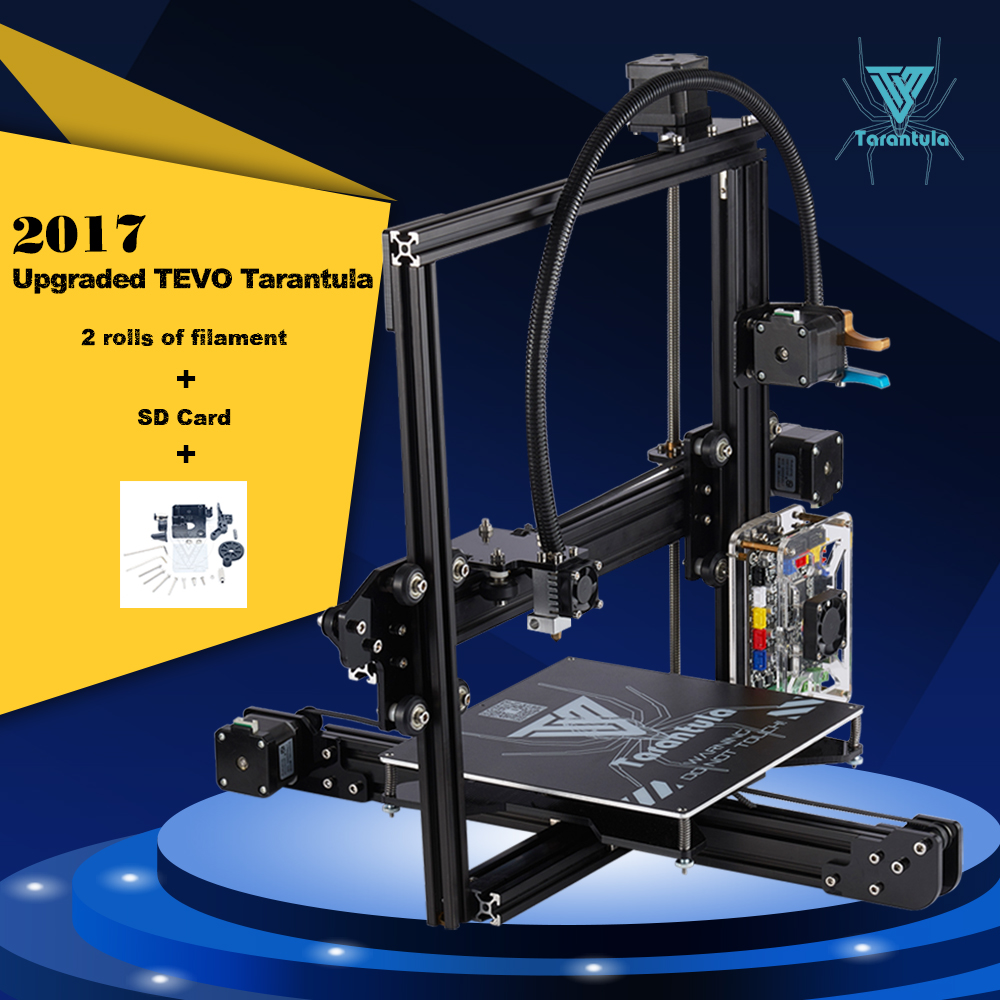 2017 Newest TEVO Tarantula 3D Printer Impresora 3D DIY Impressora 3D with Filament micro sd Card Titan Extruder I3 3D Printer hot sale wanhao d4s 3d printer dual extruder with multicolor material in high precision with lcd and free filaments sd card