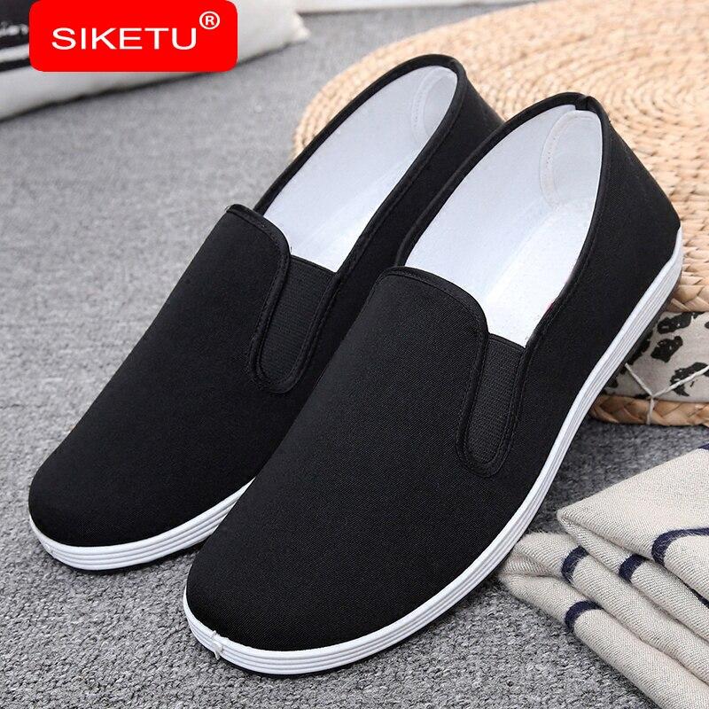 SIKETU Nuevos Hombres Zapatos Casuales de Mezclilla Zapatos de Lona de La Bander