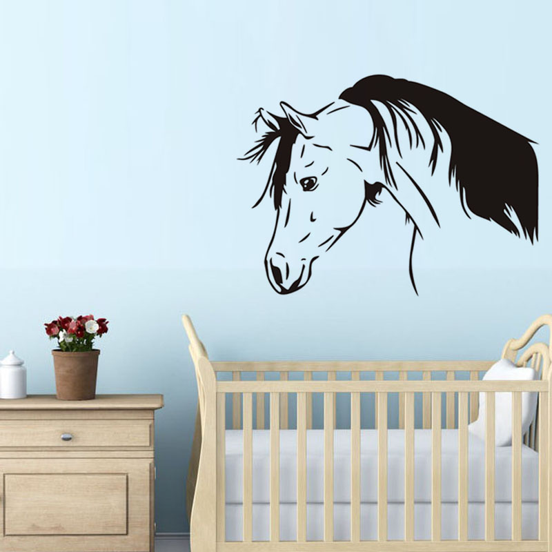 Buy dctop thinking horse wall decal funny for Odd decorations for home