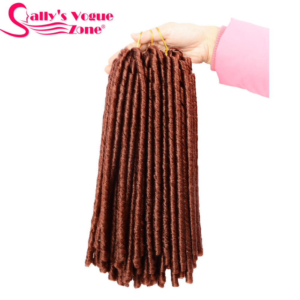 24 Roots Faux LocsCrochet Hair 18 Crochet Faux Lock Dreadlock Crochet Braids hair Extensions Synthetic Braiding hair Soft lock (170)