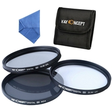 купить K&F Concept Uv Cpl Nd4 Lens Filter Kit Neutral Density Polarizing Filter дешево
