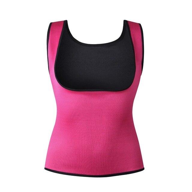 MUKATU New Body Shaper Tank Top Shirt Women Neoprene  Shapers CAMI Vest Shirt  Tops Chest Abdomen Waist Trainer Vest 2