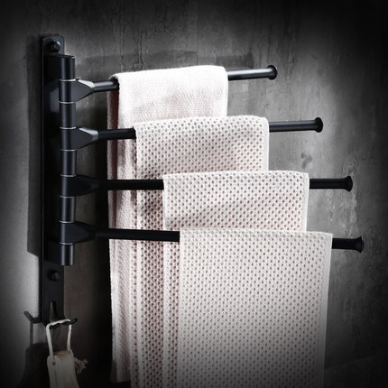 Towel Racks 2-5 Tiers Bars Black Stainless Steel Towel Holder Bath Rack Active Rails Pants Hanger Bathroom Accessories Sj30 new arrival bathroom towel rack luxury antique copper towel bars contemporary stainless steel bathroom accessories 60cm k301