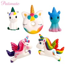 PATIMATE Unicorn Toy Squishy Slow Boost Birthday Party Decoration Favor Supplies Christmas For Home Xmas Gift