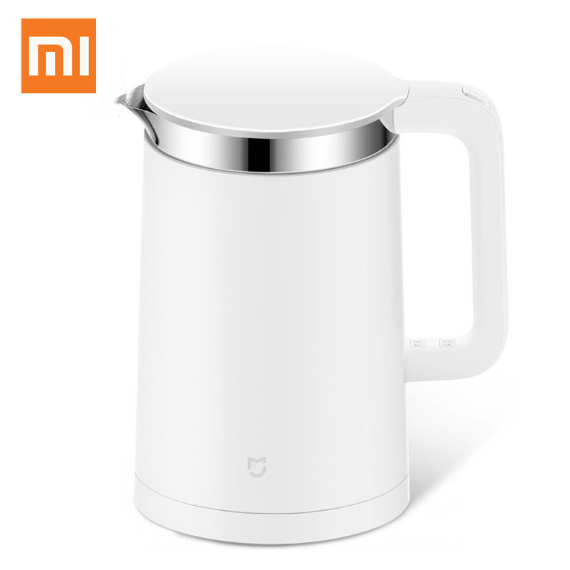 Original Xiaomi Mijia Thermostatic Electric Kettles 1.5L Control by Mobile Phone App 12 Hours Thermostat Smart kettle thermostat temperature control kettle top base set socket electric kettle parts