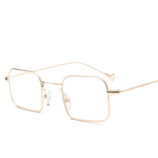 Online Shop Peekaboo gold thin metal frame glasses men optical clear ...
