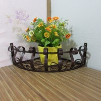 Iron Flower Plant Vase Pot Hanging Wall Spider Hooks New Stand Holder Style Home Decoration Garden