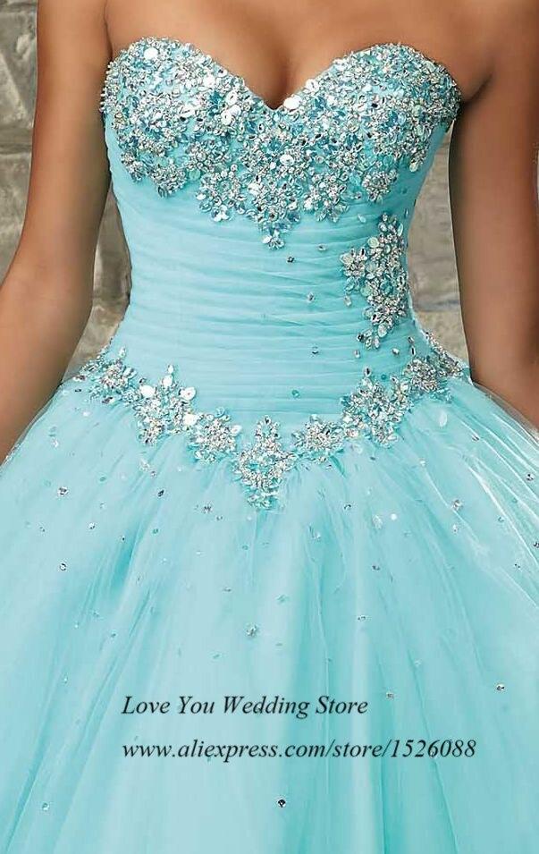 5b9a3b006 Vestidos de Quinceaneras 2015 Masquerade Ball Gowns Vestidos de 15 Anos  Princess Pink Sky Blue Crystal Quinceanera Dresses-in Quinceanera Dresses  from ...