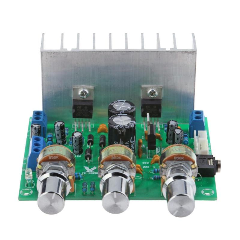 TDA2030A Finished Power <font><b>Amplifier</b></font> Board HIFI 2.0 2 Channel 15W+15W 20Hz-100KHz Frequency for LM1875 image