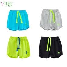 V-tree пляжные летняя конфеты случайные хлопка мальчики девочек спортивные шорты детей